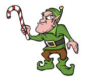 Angry elf. Cartoon illustration of an angry elf Stock Image