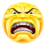 Angry Emoji Emoticon Royalty Free Stock Image
