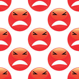 Angry emoticon pattern Stock Image