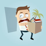 Angry employee quit his job Royalty Free Stock Photos