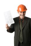 Angry engineer Stock Photography