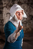 Angry Nun Pointing Finger Royalty Free Stock Photography