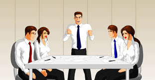 Angry executive at business meeting Royalty Free Stock Images
