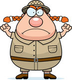 Angry Explorer. A cartoon explorer with an angry expression Royalty Free Stock Photography