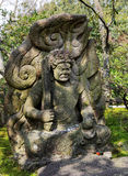 Angry Eye Vajra  Guardian statue. Angry Eye Vajra Buddha is guardian of buddha dharma in Buddhism Royalty Free Stock Photo