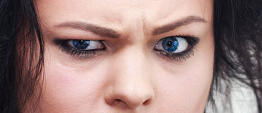 Angry eyes Stock Photo