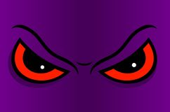 Angry eyes in cartoon. Vector illustration. Stock Images