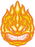 Angry Face Fireball Vector Clip Art Cartoon. Vector Clip Art Cartoon Illustration of a Fireball Mascot with an Angry Face vector illustration