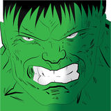 Angry face of hulk Stock Photos