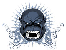 Angry Face - t shirt design Royalty Free Stock Photography