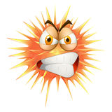 Angry face on thorny ball Royalty Free Stock Images