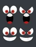 Angry faces Royalty Free Stock Images