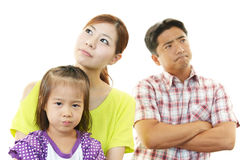 Angry family Royalty Free Stock Images