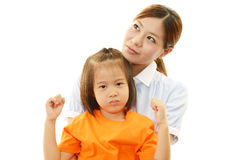 Angry family royalty free stock image