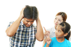 Angry family Stock Image