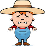 Angry Farmer Boy Stock Images