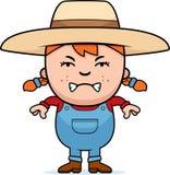 Angry Farmer Girl Stock Photography