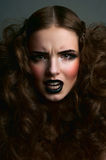 Angry fashion beauty female model Royalty Free Stock Photography