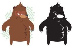 Angry fat bear Royalty Free Stock Image