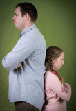 Angry father and daughter Royalty Free Stock Images