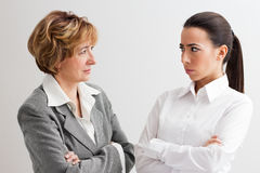 Angry female boss Royalty Free Stock Photo