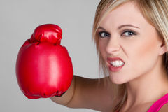 Angry Female Boxer Royalty Free Stock Image