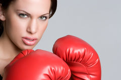 Angry Female boxer Royalty Free Stock Photo