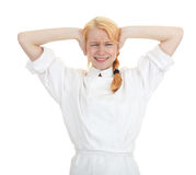 Angry female cook Royalty Free Stock Photos