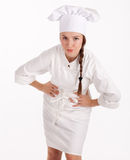 Angry female cook Stock Photo