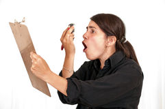 Angry Female Designer Royalty Free Stock Images