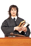 Angry female judge Stock Image