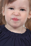 Angry female toddler stock images