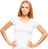 Angry female Royalty Free Stock Image