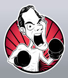 Angry fighter. Ilustrator design .eps 10 Royalty Free Stock Photography