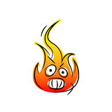 Angry fire Royalty Free Stock Image