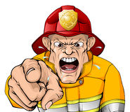 Angry fireman cartoon Royalty Free Stock Photos