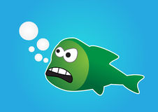 Angry fish Stock Photo