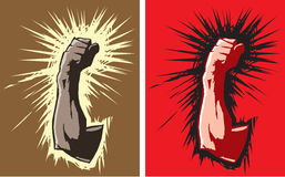 Angry fist Stock Image