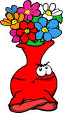 Angry flower vase with folded arms Stock Image