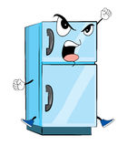 Angry fridge cartoon Royalty Free Stock Photos