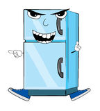 Angry fridge cartoon Royalty Free Stock Image