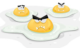 Angry Fried Chicken Eggs Royalty Free Stock Image