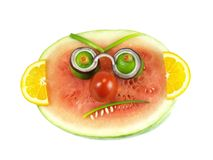 Angry fruits, isolated Stock Photography