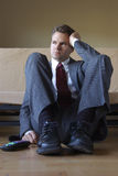 Angry frustrated business man Stock Images