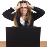 Angry/frustrated Business Woman Stock Photo
