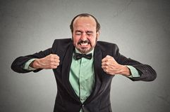 Angry frustrated man screaming Stock Photos