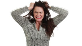 Angry and frustrated woman. stock footage
