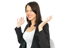 Angry Frustrated Young Business Woman Royalty Free Stock Photo