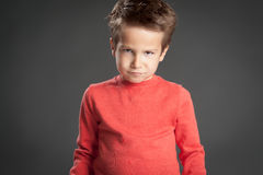 Angry Funny Boy Royalty Free Stock Images