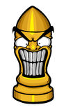 Angry funny bullet Royalty Free Stock Image